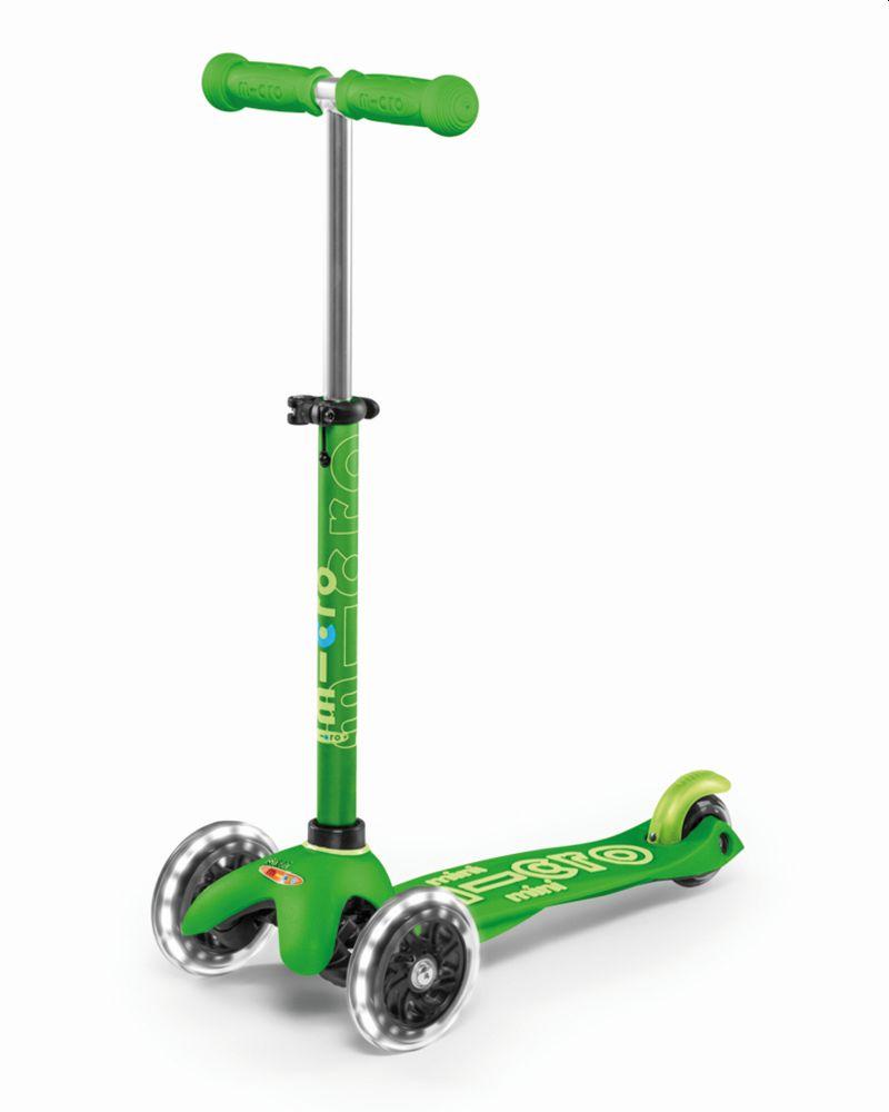 מיני מיקרו דלוקס עם גלגלי לד ירוק