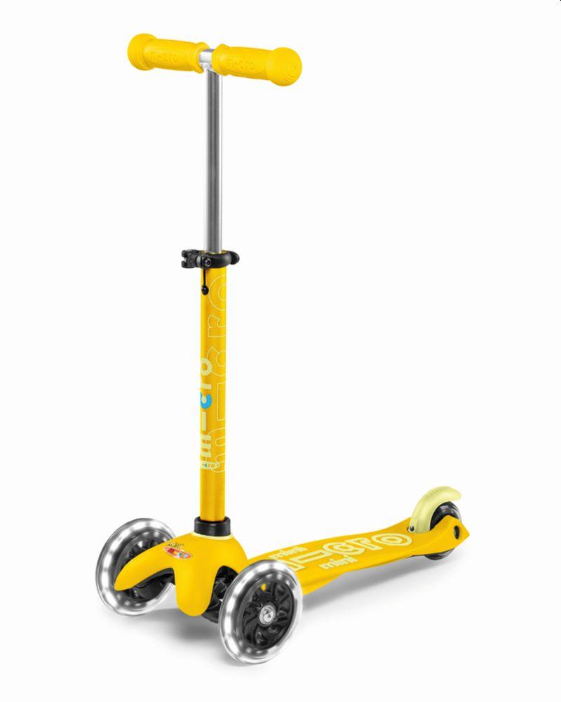 מיני מיקרו דלוקס עם גלגלי לד צהוב