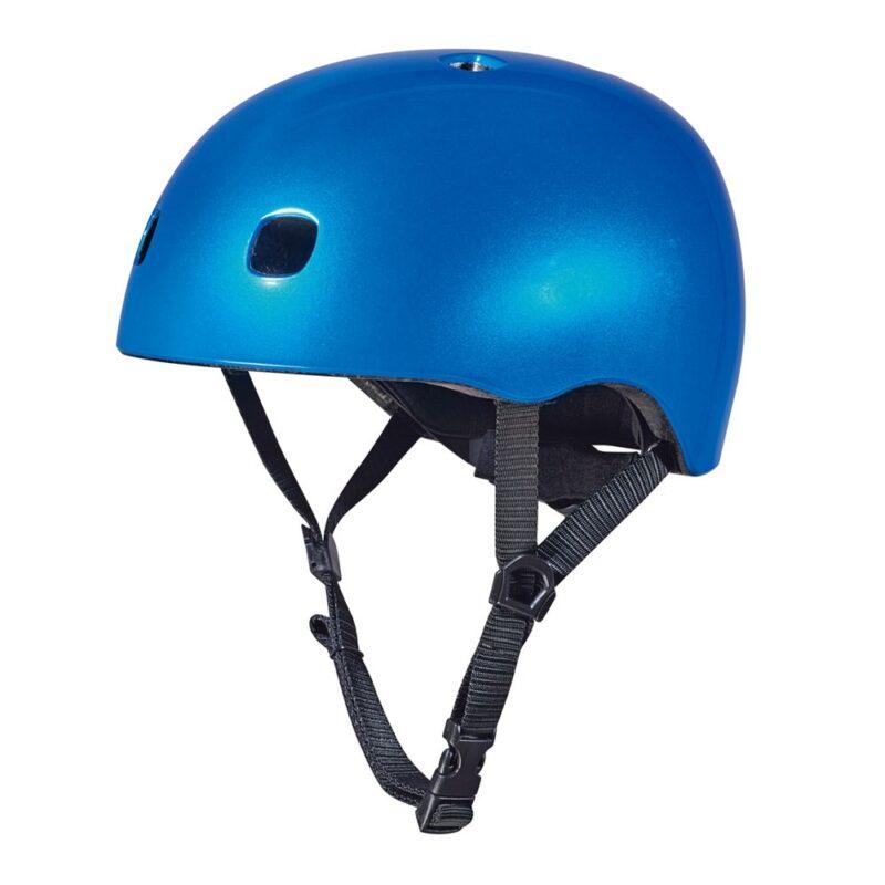 קסדה כחול מטאלי לד | קסדה לקורקינט ואופניים לילדים | מיקרו ישראל