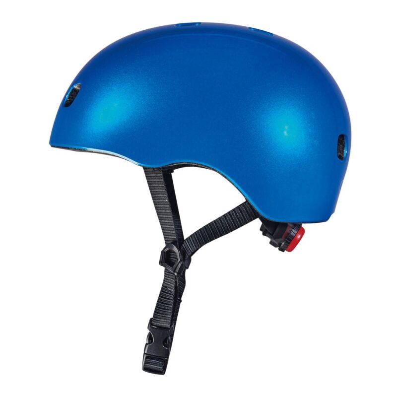 קסדה כחול מטאלי לד   קסדה לקורקינט ואופניים לילדים   מיקרו ישראל