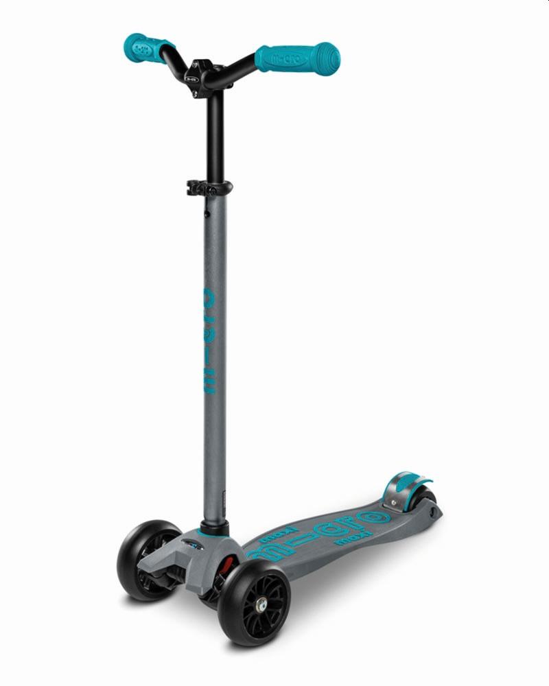 קורקינט גלגלים רחבים Maxi Micro Deluxe Pro לגילאים 5-12 | אפור אקווה